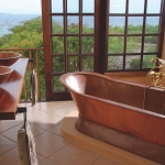 Deacra Villa bathroom with sea view, Sol Resorts, Vilanculos, Mozambique
