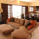 Deacra Villas open plan lounge, dining room & kitchen area, Sol Resorts, Vilanculos, Mozambique