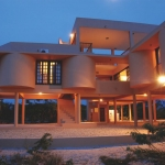 Evening view, Deacra Villas, an architectural masterpiece in Vilanculos, Mozambique