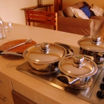 Open plan kitchen, Golden Sands apartment, Sol Resorts, Vilanculos, Mozambique