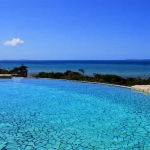Infinity pool overlooking the ocean, Golden Sands apartments, Sol Resorts, Vilanculos, Mozambique
