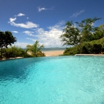 Pool by the Acacia block overlooking the ocean at Casa Rex Boutique Hotel in Vilanculos