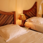 Twin bedded room, Golden Sands apartment, Sol Resorts, Vilanculos, Mozambique